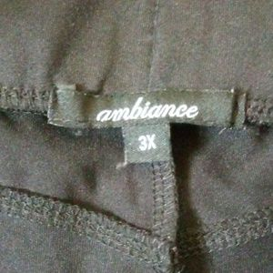 Ambiance 3X leggings shiny stretch